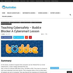 Teaching Cybersafety - Budd:e Blocker A Cybersmart Lesson