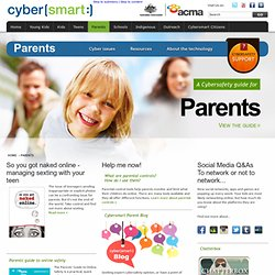Cybersafety advice and Help for Parents