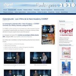 Cybersécurité : Les 4 films de la Hack Academy CIGREF