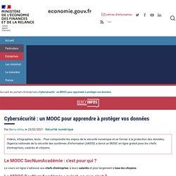 Cybersécurité : un MOOC pour apprendre à protéger vos données