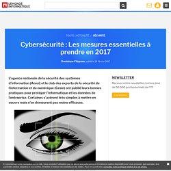 Cybersécurité : Les mesures essentielles à prendre en 2017