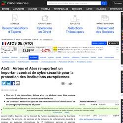 AtoS : Airbus et Atos remportent un important contrat de cybersécurité pour la protection des institutions européennes