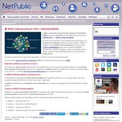MOOC Cybersécurité par l'Etat : SecNumAcadémie