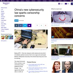 China's new cybersecurity law sparks censorship concerns