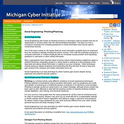 Michigan CyberSecurity - Social Engineering: Phishing/Pharming