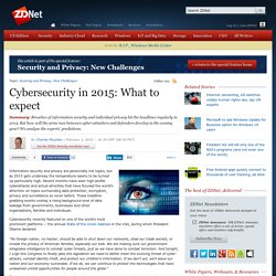 Cybersecurity in 2015: What to expect