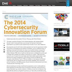 Cybersecurity Innovation Forum Recap with Rick Doten