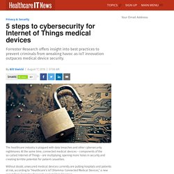 5 steps to cybersecurity for Internet of Things medical devices