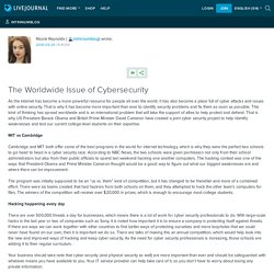 The Worldwide Issue of Cybersecurity: intriniumblog