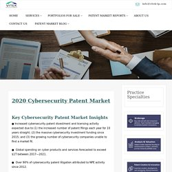 2020 Cybersecurity Patent Market Overview