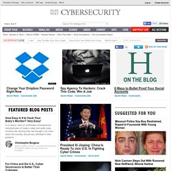 Cybersecurity News Huffington Post