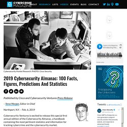2019 Cybersecurity Almanac: 100 Facts, Figures, Predictions and Statistics