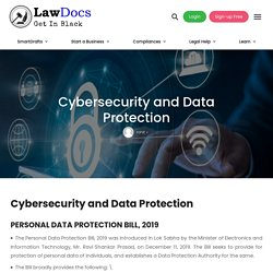 Cybersecurity and Data Protection - Lawdocs.in