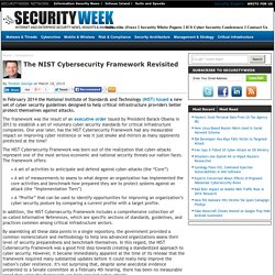 The NIST Cybersecurity Framework Revisited