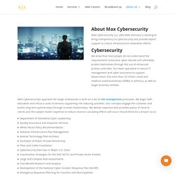 About Max Cybersecurity service companies washington DC