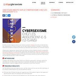 Une étude inédite sur le cybersexisme chez les adolescent-e-s