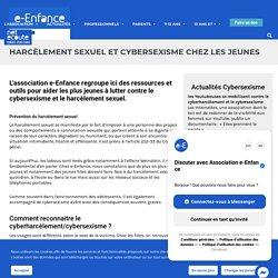 Harcèlement sexuel et cybersexisme chez les jeunes