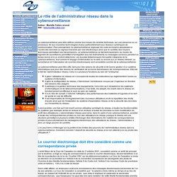 Le rôle de l'administrateur réseau dans la cybersurveillance