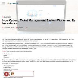 How Cybexo Ticket Management System Works and Its Importance