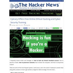 Cybrary Offers Free Online Ethical Hacking and Cyber Security Training