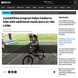 Cyclabilities program helps Canberra kids with additional needs learn to ride a bike