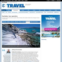 Cyclades: tour operators