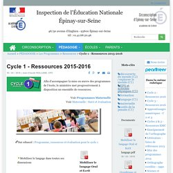 Cycle 1 - Ressources 2015-2016