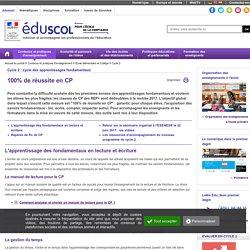 Réforme de la scolarité obligatoire - 100% de réussite en CP