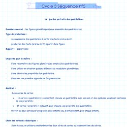 Cycle 3 Séquence n°5