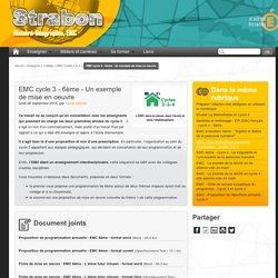 EMC cycle 3 - 6ème - Un exemple de mise en oeuvre - Histoire, Géographie, EMC