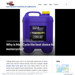 Why is Max Cycle the best choice for motorcycles?