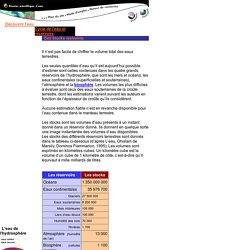Cycle eau : des stocks restreints