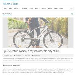 Cycle electric Komsa, a stylish upscale city ebike