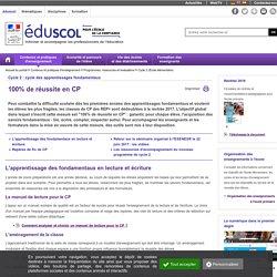 Cycle 2 (École élémentaire) - 100% de réussite en CP