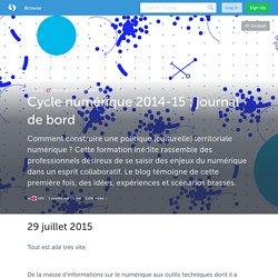 Cycle numérique 2014-15 : journal de bord (avec images) · OPC