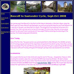 Cycle routes and maps Roscoff to Santander