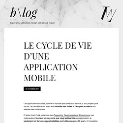 Le cycle de vie d'une application mobile
