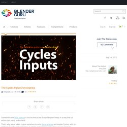 The Cycles Input Encyclopedia