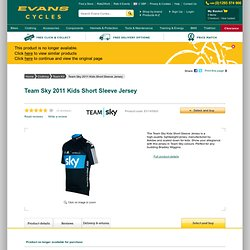 Team Sky 2011 Kids Short Sleeve Jersey | Online Bike Shop