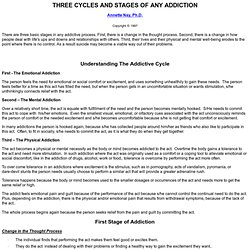 Cycles and Stages of Addiction