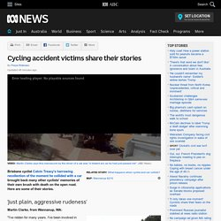 Cycling accident victims share their stories