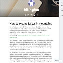 How to cycling faster in mountains – bikingfun