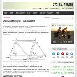 Cycling About – Understanding Bicycle Frame Geometry