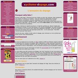L'annuaire du dopage