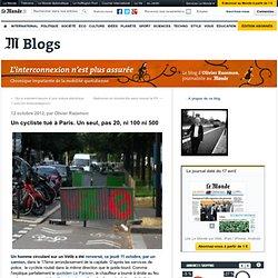 Un cycliste tué à Paris. Un seul, pas 20, ni 100 ni 500