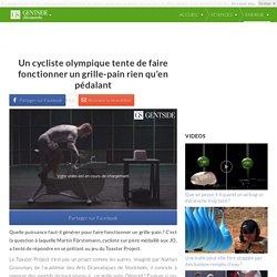 Un cycliste olympique tente de faire fonctionner un grille-pain rien qu'en pédalant