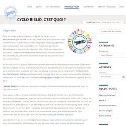Cyclo-biblio, c'est quoi ?