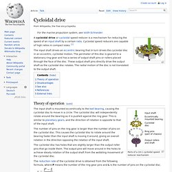 Cycloidal drive
