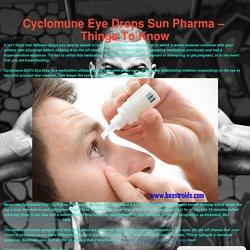 Cyclomune Eye Drops Sun Pharma – Things To Know