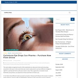 Cyclomune Eye Drops Sun Pharma – Purchase Now From Online